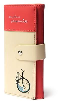Meigar Women Lady Girls Long Clutch PU Leather Wallet Purse Checkbook Coin Bag Card Handbag