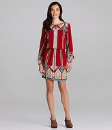Nurture Border-Print Peasant Dress