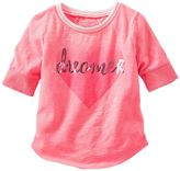 Osh Kosh Toddler Girl Sparkle Baseball Tee