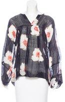 Etoile Isabel Marant Silk-Blend Printed Top