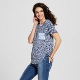 Self Esteem Women's Floral Printed Ringer Pocket Tee Juniors')