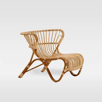west elm Indoor Rattan Lounge Chair