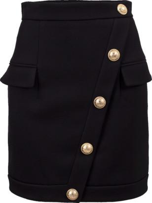 Balmain Short Buttoned Skirt