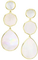 Ippolita Polished Rock Candy 18K Yellow Gold & Mother-Of-Pearl Crazy 8's Clip-On Earrings