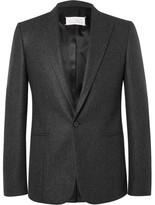 Maison Margiela Grey Slim-Fit Wool-Flannel Suit Jacket