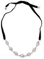Lulu Frost Proxima Velvet Choker Necklace, Silver/Black