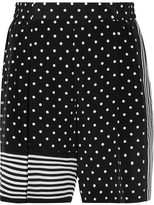 Stella McCartney Zandra Printed Silk Crepe De Chine Shorts - Black