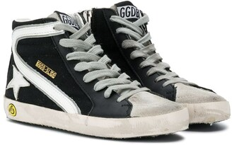 Golden Goose Kids Distressed Hi-Top Sneakers