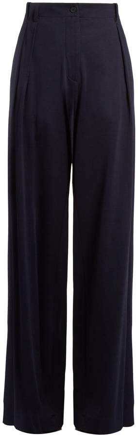 Tomas Maier Campus wide-leg jersey trousers