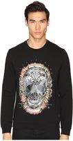Just Cavalli Wreath Skull Sweatshirt Men's Sweatshirt