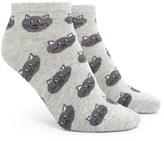 Forever 21 FOREVER 21+ Heathered Cat Print Ankle Socks