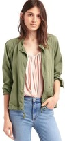 Tencel® drapey drawstring jacket