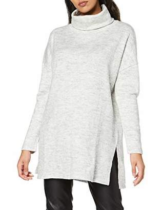 New Look Women's Matilda Cowl Neck Tunic T-Shirt, Grey, Size 8 (Manufacturer Size: X-Small)