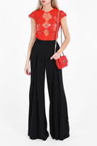 Jonathan Simkhai Macram Lace Panel Top