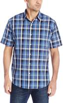 Arrow Men's Short Sleeve Sea Jack Seersucker Shirt