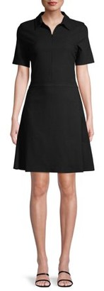 C. Wonder Women's Collared Fit & Flare Jacquard Dress