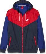 Nike Sportswear Windrunner Navy/Red Mens Hooded Jacket