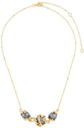 Kasun London Three Pearls Necklace
