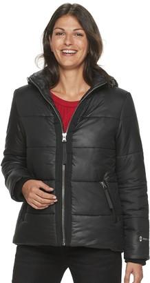 Free Country Women's Metallic Hooded Puffer Jacket