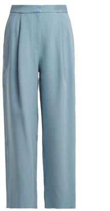 Roksanda Radella Cropped Wide Leg Trousers - Womens - Light Blue