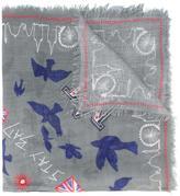 Alexander McQueen London doodle scarf