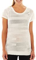 JCPenney XersionTM Banded Bottom Burnout Tee