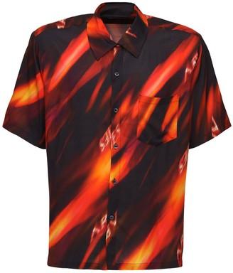 Aries Fire Printed Viscose Hawaiian Shirt