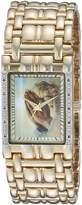 EWatchFactory Men's 'EW Praying Squ' Quartz Metal and Alloy Casual Watch, Color:-Toned (Model: PW00200)