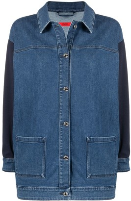 HUGO BOSS Contrast-Panel Denim Jacket