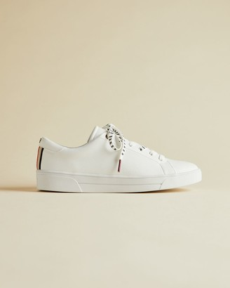Ted Baker Webbing Detail Leather Trainers
