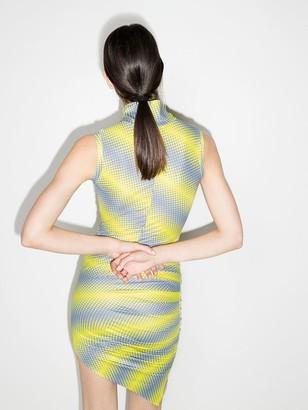 MAISIE WILEN Asymmetric Marble Print Mini Dress