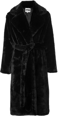Apparis long belted coat