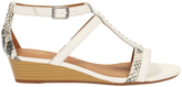 Clarks Playful Fox White Combi Sandal