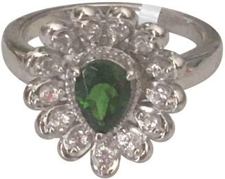 Non Signã© / Unsigned Green Silver Gilt Rings