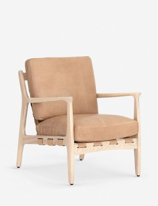Lulu & Georgia Kenneth Leather Accent Chair, Sahara Tan
