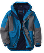 Lands' End Boys Husky Squall Parka-Intense Blue
