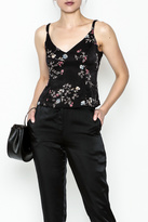 Honey Punch Floral Spaghetti Strap Top