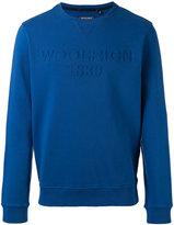 Woolrich logo embroidered sweatshirt - men - Cotton - L