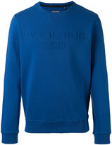 Woolrich logo embroidered sweatshirt - men - Cotton - M