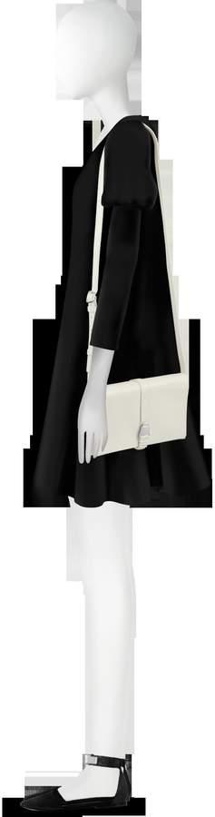 Akris XXS Alice Ecru Leather Shoulder Bag