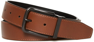 Original Penguin Bubble Logo Reversible Leather Belt