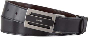 Bally Fabazia Reversible Logo Belt, Brown