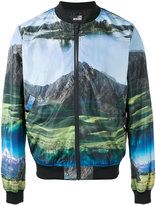 Love Moschino landscape print bomber jacket - men - Polyester - 50