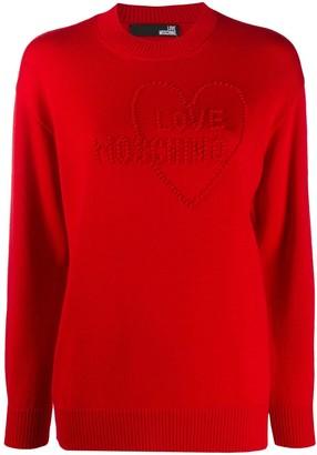 Love Moschino Textured Logo Jumper