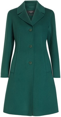 Max Mara Uggioso Revere Collar Coat, Green