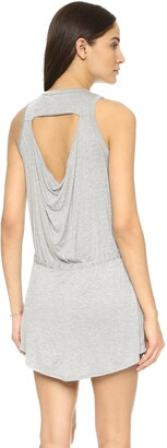 Chaser Women's Cool Jersey Drawstring Dress Grey X-Small