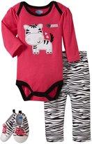 Bon Bebe Zebra Bodysuit & Shoe Set (Baby)-Multicolor-6-9 Months