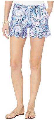 Lilly Pulitzer Buttercup Knit Shorts (Lapis Lazuli Horseshoe Bay) Women's Shorts