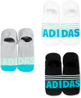 adidas Women's 3-Pk. Logo Stripe Super No-Show Socks