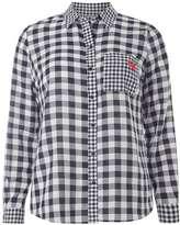 Mixed Gingham Badged Shirt